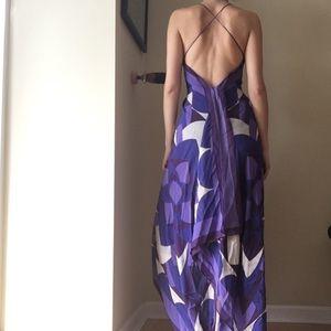 Nicole Miller silk backless maxi dress